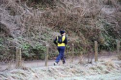 © Licensed to London News Pictures. 19/01/2015<br /> Freezing cold weather conditions overnight  (19.01.2015) at Eynsford in Kent.<br /> <br /> Weather warning has been issued across most of the uk as temperatures dropped overnight to -11c in parts.<br /> <br /> (Byline:Grant Falvey/LNP)