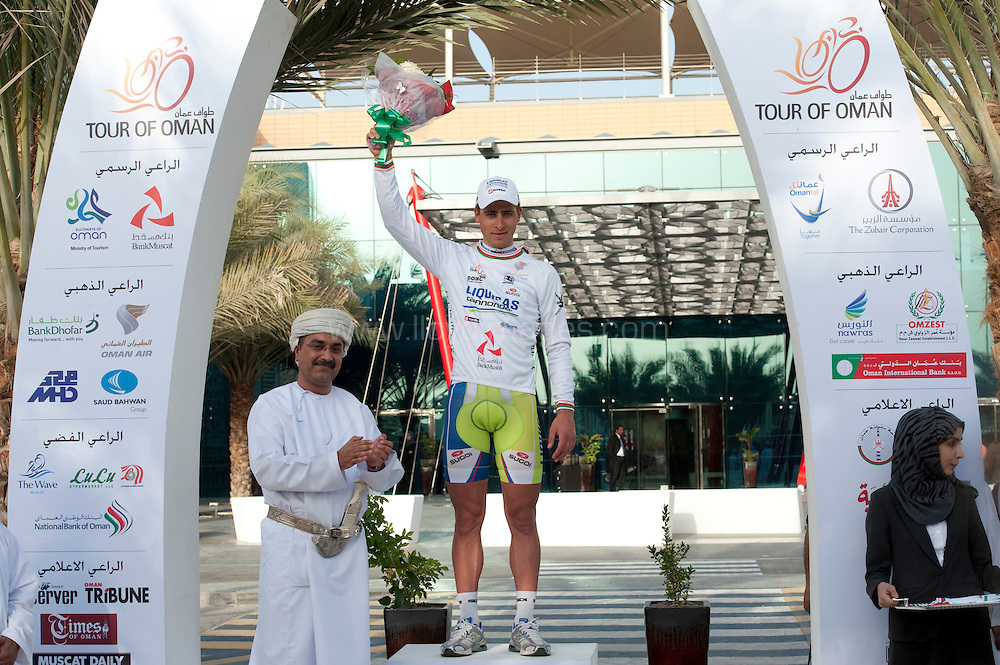 Pictures show : Stage Three of The Tour of Oman;.Al Awabi to Bank Muscat HQ.© Lloyd Images/Muscat Municipality Pictures show : Stage Three of The Tour of Oman;.Al Awabi to Bank Muscat HQ..Marcel Kittel of Project 1T4i has won Stage 3 of the Tour of Oman in a sprint finish to the 145.5km stage that took the peloton from Al Awabi (Al Alya) to the Bank Muscat headquarters at Muscat .© Lloyd Images/Muscat Municipality