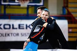 Olivera Kostic of Calcit Volley and Jan Brulec of Calcit Volley during 3rd Leg Volleyball match between Calcit Volley and Nova KBM Maribor in Final of 1. DOL League 2020/21, on April 17, 2021 in Sportna dvorana, Kamnik, Slovenia. Photo by Matic Klansek Velej / Sportida