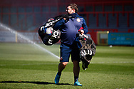 Kit man Keith Bell during the EFL Sky Bet League 2 match between Stevenage and Bradford City at the Lamex Stadium, Stevenage, England on 5 April 2021.
