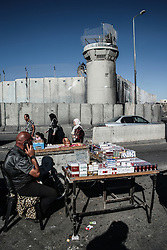 A view of the Qalandiya check point in the wall of separation in the west bank of Palestine. From a series of photos commissioned by  British NGO, Medical Aid for Palestinians (MAP).