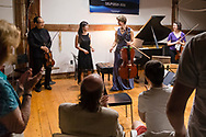 The Weekend of Chamber Music held a barn concert at Eddie Adams Farm on July 22, 2017. The concert featured Michael Jinsoo Lin and Andrew Waggoner  on violin, Melia Watras on viola, Caroline Stinson on cello and Sarah Ho on piano.