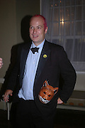 Justin Wheeler. Connaught Square Squirrel Hunt Inaugural Hunt Ball. Banqueting House, Whitehall. 8 September 2005. ONE TIME USE ONLY - DO NOT ARCHIVE  © Copyright Photograph by Dafydd Jones 66 Stockwell Park Rd. London SW9 0DA Tel 020 7733 0108 www.dafjones.com