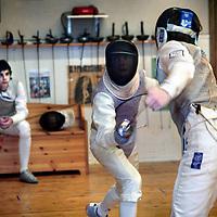 Nederland,Amsterdam ,17 december 2007..Training van  de schermerheren (14-17 jr.) van de floretploeg...Foto:Jean-Pierre Jans