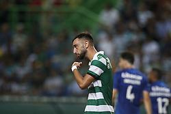September 1, 2018 - Lisbon, Portugal - Bruno Fernandes of Sporting reacts during Primeira Liga 2018/19 match between Sporting CP vs CD Feirense, in Lisbon, on September 1, 2018. (Credit Image: © Carlos Palma/NurPhoto/ZUMA Press)