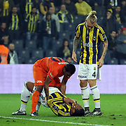 Fenerbahce's Simon Kjaer (R) during their Turkish super league soccer match Fenerbahce between Medipol Basaksehir at the Sukru Saracaoglu stadium in Istanbul Turkey on Sunday 13 December 2015. Photo by Kurtulus YILMAZ/TURKPIX