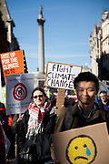 20.000 people turned out to the Time to Act  climate demonstration. The demonstration calls for urgent action on climate change and solidarity amongst climate change organisations and social justice groups. The March went peacefully through London to the Houses of Parliament.
