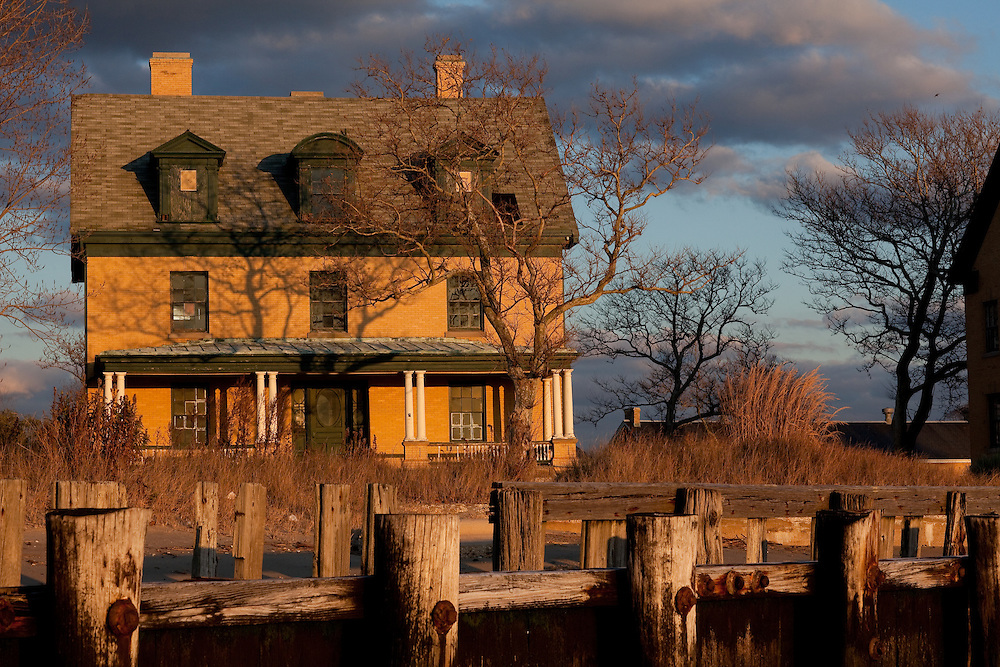 The site of a number of fortifications since the American Revolution, Sandy Hook New Jersey became the home of Fort Hancock in 1899, with the completion of the first thirty-four buildings, including eighteen Georgian Revival style homes for officers and their families. Fort Hancock was armed with the most sophisticated weaponry of the day.