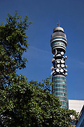 The British Telecom BT Tower in central London. An iconic landmark the tower is located at 60 Cleveland Street, Fitzrovia. It has been previously known as the Post Office Tower, the London Telecom Tower and the British Telecom Tower. The main structure is 177 metres (581 ft) tall, with a further section of aerial rigging bringing the total height to 189 metres (620 ft). The tower is still in use, and is the site of a major UK communications hub. It is reported that the famous rotating restaurant at the top would be reopened by 2012.
