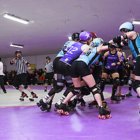 Rainy City Roller Derby All Stars take on Dublin Roller Derby at The Thunderdome, King Street, Oldham, 2017-02-26