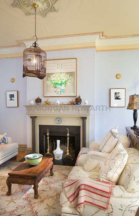 fireplace. 2909 P Street Washington DC Home Living Room