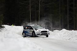 13.02.2015, Karlstad, Karlstad, SWE, FIA, WRC, Schweden Rallye, im Bild Ott Tanak/Raigo Molder (M-Sport WRT/Ford Fiesta RS WRC) // during the WRC Sweden Rallye at the Raga in Karlstad in Karlstad, Sweden on 2015/02/13. EXPA Pictures © 2015, PhotoCredit: EXPA/ Eibner-Pressefoto/ Bermel<br /> <br /> *****ATTENTION - OUT of GER*****
