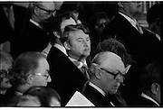 Inaugeration of President Hillery..1983.03.12.1983.12.03.1983.3rd December 1983...Dignitaries from home and abroad attended the Inaugeration of Patrick Hillery, as president of Ireland. the ceremony took place at St Patrick's Hall,Dublin Castle.
