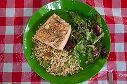 Salmon Dinner, Jones Island, San Juan Islands, Washington, US