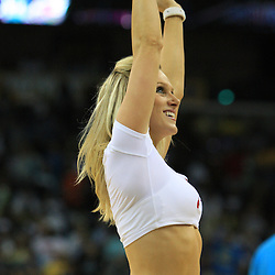 11 February 2009: New Orleans Hornets Honeybees cheerleaders perform during a 89-77 loss by the New Orleans Hornets to the Boston Celtics at the New Orleans Arena in New Orleans, LA.