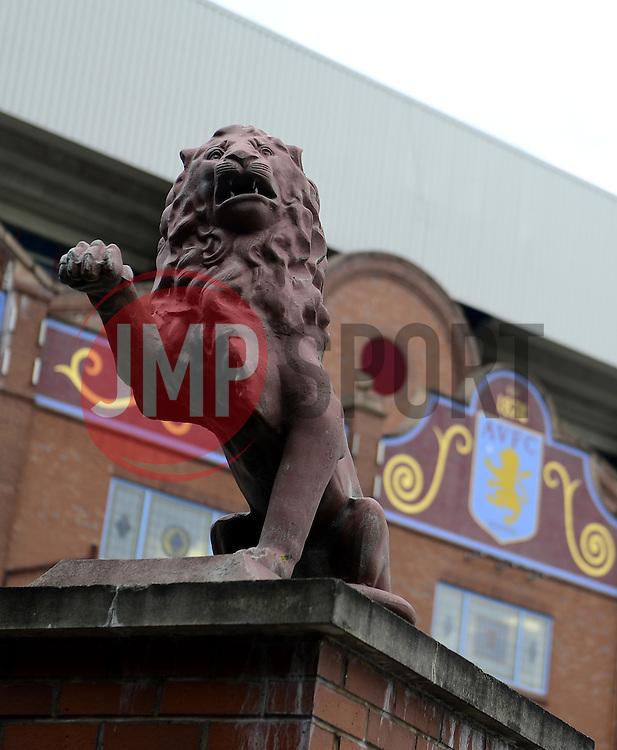 The Lion on AstonVilla's famous crest is replicated on the gates - Photo mandatory by-line: Joe Meredith/JMP - Mobile: 07966 386802 23/08/2014 - SPORT - FOOTBALL - Birmingham - Villa Park - Aston Villa v Newcastle United - Barclays Premier League