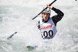 Ajda Novak of Slovenia competes in Kayak (K1) Women during International Slalom Kayak-Canoe competition, on May 6, 2018 in Tacen, Ljubljana, Slovenia. Photo by Vid Ponikvar / Sportida