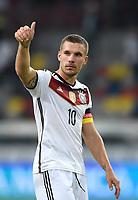 Fotball<br /> Tyskland v Argentina<br /> Privatlandskamp<br /> 03.09.2014<br /> Foto: Witters/Digitalsport<br /> NORWAY ONLY<br /> <br /> Lukas Podolski (Deutschland)<br /> Fussball, Testspiel, Deutschland - Argentinien 2:4