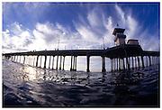 In The Ocean At The Huntington Beach Pier