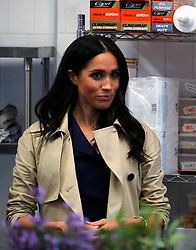 The Duchess of Sussex visits Mission Australia social enterprise restaurant Charcoal Lane in Melbourne, on the third day of the royal couple's visit to Australia.