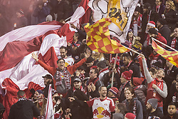 March 10, 2018 - Harrison, New Jersey, United States - New York Red Bulls fans celebrates during regular MLS game against Portland Timbers at Red Bull Arena Red Bulls won 4 - 0  (Credit Image: © Lev Radin/Pacific Press via ZUMA Wire)