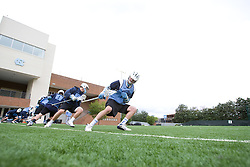 14 April 2008: North Carolina Tar Heels men's lacrosse attackman Matthias McCall (19) during a practice day in Chapel Hill, NC.