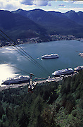 View from aerial tram, Juneau, Alaska<br />