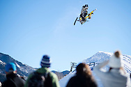 Colten Moore during Snowmobile Freestyle Practice at the 2016 X Games Aspen in Aspen, CO. ©Brett Wilhelm/ESPN
