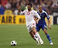 Fotball<br /> Frankrike v Tunis / Tunisia<br /> Foto: DPPI/Digitalsport<br /> NORWAY ONLY<br /> <br /> FOOTBALL - FRIENDLY GAMES 2008/2009 - FRANCE v TUNISIA - 14/10/2008 - FAHID BEN KHALFALLAH (TUN) / GAEL CLICHY (FRA)
