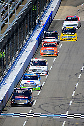 March 23, 2019 - Martinsville, VA, U.S. - MARTINSVILLE, VA - MARCH 23:  #17: Tyler Ankrum, DGR-Crosley, Toyota Tundra May's Hawaii leads a group of trucks during the 21st running of the NASCAR Gander Outdoors Truck Series TruNorth Global 250 race on March 23, 2019 at the Martinsville Speedway in Martinsville, VA.  (Photo by David John Griffin/Icon Sportswire) (Credit Image: © David J. Griffin/Icon SMI via ZUMA Press)