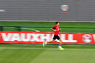 Gareth Bale of Wales in action. Wales senior football team training session in Newport pic by Andrew Orchard