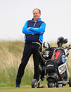 Mark O'Reilly following Thomas Mulligan (Co. Louth) on the 9th tee during Round 1 of the East of Ireland Amateur Open Championship at Co. Louth Golf Club, Baltray on Saturday 30th May 2015.<br /> Picture:  Thos Caffrey / www.golffile.ie