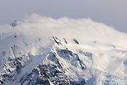 Cloud covered peak in Los Glaciares National Park, Argentina.