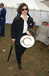 BIANCA JAGGER at the 2005 Cartier International Polo between England & Australia held at Guards Polo Club, Smith's Lawn, Windsor Great Park, Berkshire on 24th July 2005.<br /><br />NON EXCLUSIVE - WORLD RIGHTS