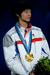 14-02-2010 ALGEMEEN: OLYMPISCHE SPELEN: CEREMONIE: VANCOUVER<br /> Ceremonie 1500 meter shorttrack / LEE Jung-Su KOR <br /> ©2010-WWW.FOTOHOOGENDOORN.NL