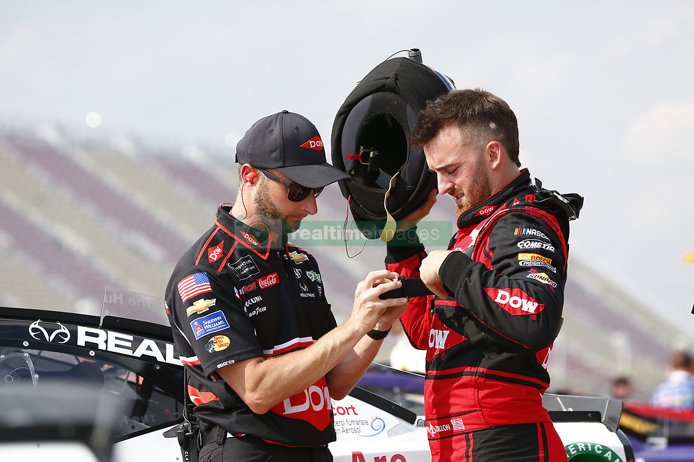 August 10, 2018 - Brooklyn, Michigan, United States of America - Austin Dillon (3) hangs out on pit road prior to qualifying for the Consumers Energy 400 at Michigan International Speedway in Brooklyn, Michigan. (Credit Image: © Justin R. Noe Asp Inc/ASP via ZUMA Wire)