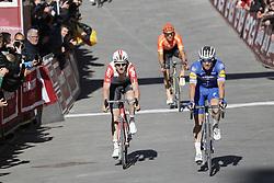 March 9, 2019 - Siena, Italy - Belgian Tiesj Benoot of Lotto Soudal and Czech Zdenek Stybar of Deceuninck - Quick-Step finish the Strade Bianche one day cycling race in Siena, Italy, Saturday 09 March 2019...BELGA PHOTO YUZURU SUNADA (Credit Image: © Yuzuru Sunada/Belga via ZUMA Press)