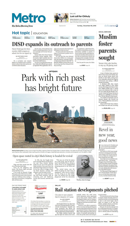 The Dallas Morning News -Metro, B1, December 30, 2012.