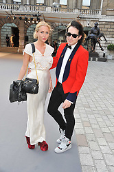 SOPHIA GREEN and RICHARD DENNEN at the Royal Academy of Arts Summer Exhibition Preview Party at Burlington House, Piccadilly, London on 2nd June 2011.