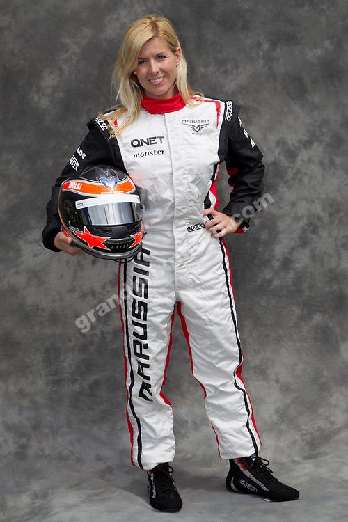 Maria de Villota (Marussia-Cosworth) third driver before the 2012 Australian Grand Prix in Albert Park, Melbourne. Photo Grand Prix Photo