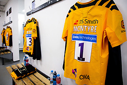 A general view of the Wasps dressing room at Sale Sharks - Mandatory by-line: Robbie Stephenson/JMP - 08/11/2019 - RUGBY - AJ Bell Stadium - Manchester, England - Sale Sharks v Wasps - Gallagher Premiership Rugby