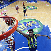 Fenerbahce's Angel MCoughtry (R) during their Turkish Basketball woman league derby match Fenerbahce between Galatasaray at Ulker Sports Arena in Istanbul, Turkey, wednesday, December 26, 2012. Photo by Aykut AKICI/TURKPIX