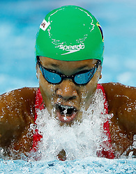 HANGZHOU, Dec. 15, 2018  Alia Atkinson of Jamaica competes during Women's 100m breaststroke Final at 14th FINA World Swimming Championships (25m) in Hangzhou, east China's Zhejiang Province, on Dec. 15, 2018. Alia Atkinson claimed the title with 1:03.51. (Credit Image: © Xinhua via ZUMA Wire)