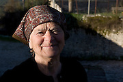 Greece, Epirus, Zagoria Vitsa Village Portrait of a local mature woman