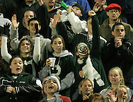 Cornwall fans cheer for their football team during a game against Harrison at Mahopac High School on Nov. 10, 2006.