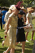 Daphne Guinness and Maria Niarchos, Ascot, Tuesday 15 June 2004. ONE TIME USE ONLY - DO NOT ARCHIVE  © Copyright Photograph by Dafydd Jones 66 Stockwell Park Rd. London SW9 0DA Tel 020 7733 0108 www.dafjones.com