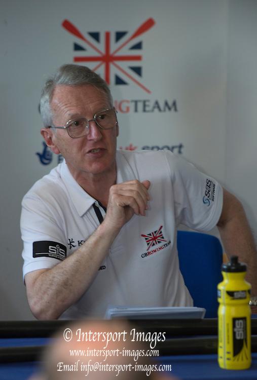 Caversham. Reading. Sir david TANNER, GBRowing  European Team Announcement, GB Training Base Reading. 13.05.2015. Wednesday. [Mandatory Credit: Peter Spurrier/Intersport-images.com