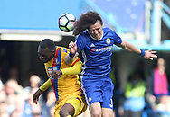Chelsea's David Luiz tussles with Crystal Palace's Christian Benteke during the Premier League match at the Stamford Bridge Stadium, London. Picture date: April 1st, 2017. Pic credit should read: David Klein/Sportimage via PA Images