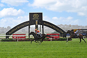 Danielle Johnson on Entriviere wins Race 7, Haunui Farm King's Plate (G3) 1200.<br /> Vodafone Derby Day at Ellerslie Race Course, Auckland on Sunday 7th March 2021 during lockdown level 2.<br /> Copyright photo: Alan Lee / www.photosport.nz