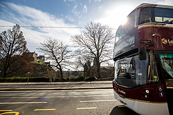 Lothian Bus on Princes Street. Edinburgh on the day after the Lockdown.